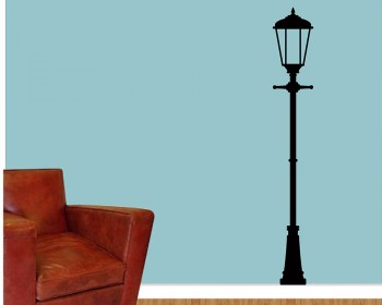 Street Lamp Vinyl Decals Modern Wall Art Sticker