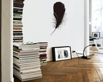 Feather Vinyl Decals Modern Wall Art Sticker