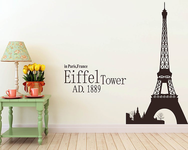 Paris Decals Wall Art eiffel tower vinyl decals modern wall art sticker