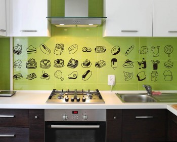 Lovely Food Kitchen Wall Decal Nursery Dining Room Stickers