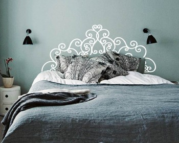 Headboard Vinyl Decals Modern Wall Art Sticker