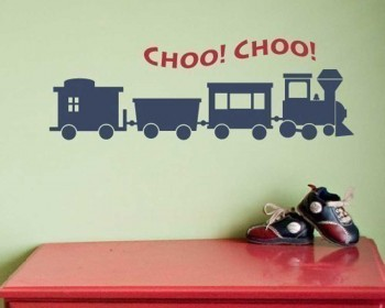 Little Train Nursery Vinyl Decal Children Sticker