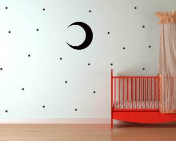 Moon and Stars Nursery Vinyl Decal Children Sticker