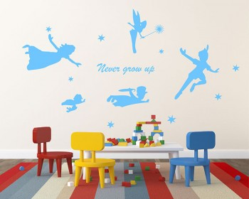 Never Grow Up - Fairy Nursery Vinyl Decal Children Sticker