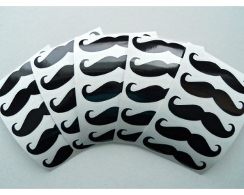Mustache Pattern Wall Decal Nursery Modern Vinyl Sticker