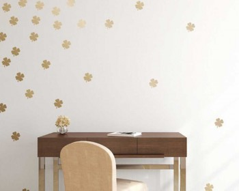 Clover Pattern Wall Decal Nursery Modern Vinyl Sticker