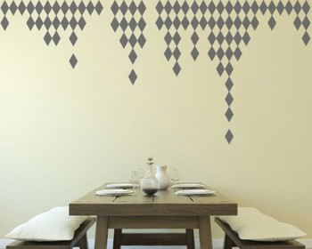 Rhombus Pattern Wall Decal Nursery Modern Vinyl Sticker