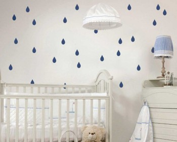 Raindrop Pattern Wall Decal Nursery Modern Vinyl Sticker
