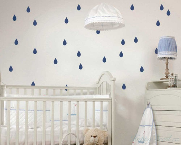 Raindrop Pattern Wall Decal