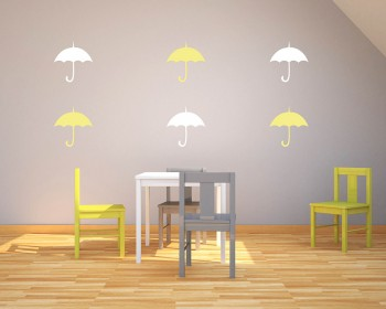 Umbrella Pattern Wall Decal Nursery Modern Vinyl Sticker