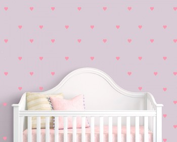 Heart Pattern Wall Decal Nursery Modern Vinyl Sticker