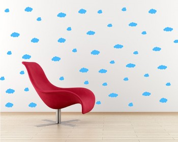 Clouds Pattern Wall Decal Nursery Modern Vinyl Sticker
