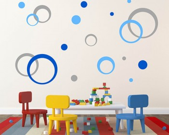 Concentric Circles Wall Decal Modern Pattern Stickers