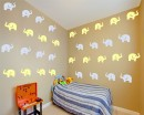 Elephants Pattern Wall Decal Nursery Modern Vinyl Sticker
