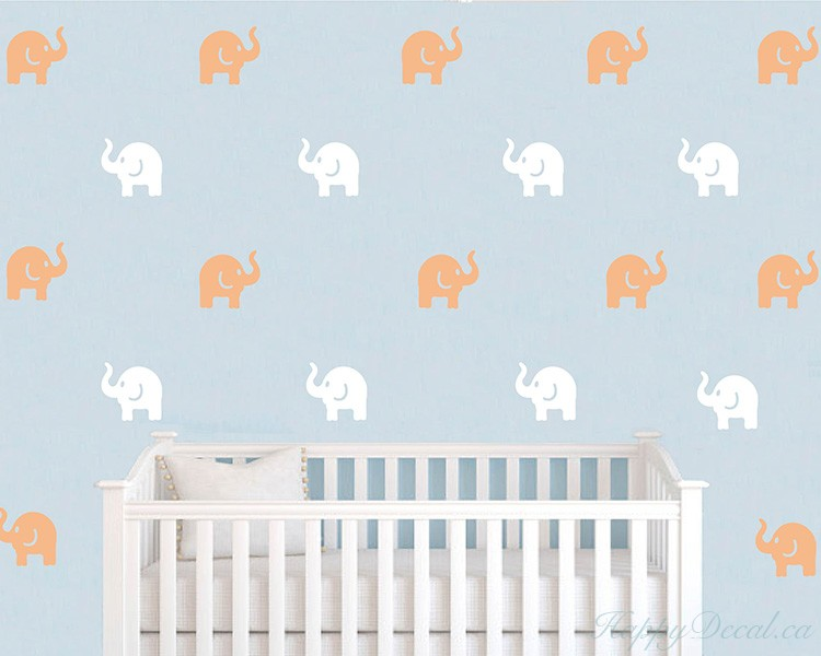Elephants Pattern Wall Decal