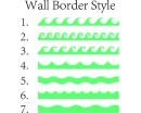 7 Styles Wall Border Decals Nursery Modern Vinyl Sticker