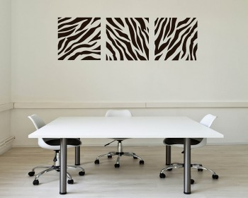 Zebra-stripe Damask Wall Pattern Decal Modern Vinyl Art