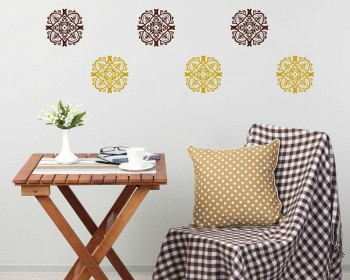 Damask Pattern Wall Decal  Modern Vinyl Art Stickers