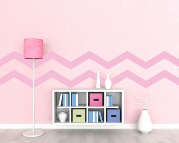 Chevron Stripe (obtuse angle) Wall Pattern Vinyl Decals