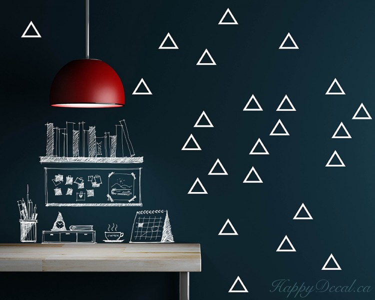 Empty Triangle Pattern Wall Decal