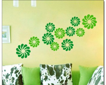 Flower Pattern Wall Decal Nursery Modern Vinyl Sticker