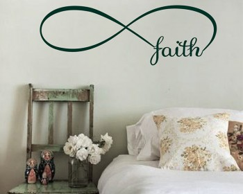 Infinity Faith Quotes Wall Decal Quotes Vinyl Art Stickers