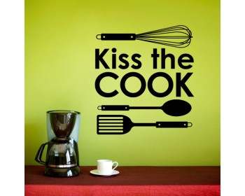 Kiss the Cook Quotes Wall Decal