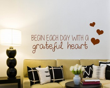 Begin Each Day Quotes Wall Decal Motivational Vinyl Art Stickers