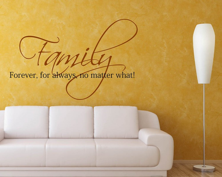 Forever Quotes Wall Decal Family Vinyl Art Stickers - Wall decals about family
