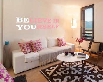 Believe Quotes Wall Decal Motivational Vinyl Art Stickers