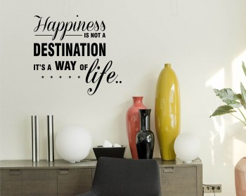 Happiness is Quotes Wall Decal Motivational Vinyl Art Stickers