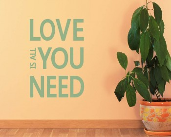 Love is All You Need Quotes Wall Decal Love Vinyl Art Stickers