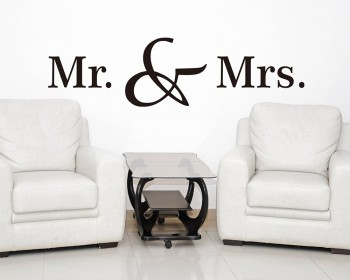 Mr. & Mrs. Quotes Wall Decal Love Vinyl Art Stickers