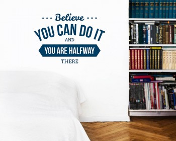 Believe You Can Quotes Wall Decal Motivational Vinyl Art Stickers