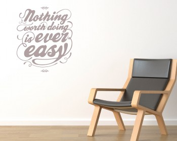 Nothing Worth Doing Quotes Wall Decal Motivational Vinyl Art Stickers