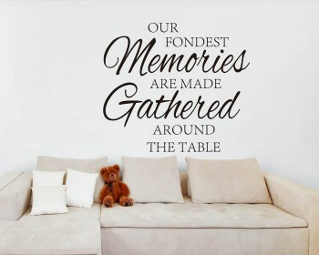 Our Fondest Memories Quotes Wall Decal Love Vinyl Art Stickers