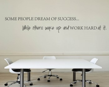 Some People Dream of Quotes Wall Decal Motivational Vinyl Art Stickers