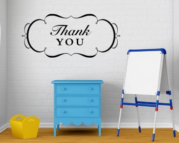 Thank You Quotes Wall Decal Motivational Vinyl Art Stickers