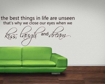 The Best Things in Life Quotes Wall Decal Motivational Vinyl Art Stickers