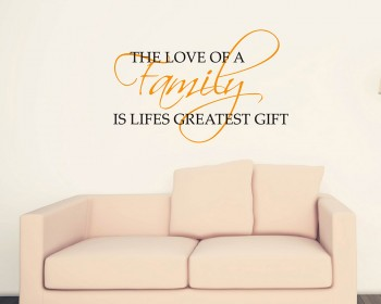 The Love of a Family Quotes Wall Decal Family Vinyl Art Stickers