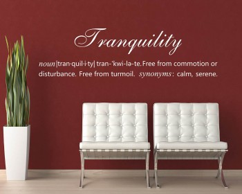 Tranquility Definition Quotes Wall Decal Definition Vinyl Art Stickers