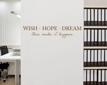 Wish Hope Dream Quotes Wall Decal Motivational Vinyl Art Stickers