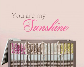 You Are My Sunshine Quotes Wall Decal Love Vinyl Art Stickers