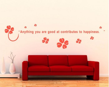 Anything You are Good at Quotes Wall Decal Motivational Clover Stickers