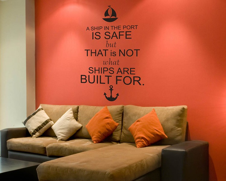 Ship Quotes Extraordinary Ship Quotes Wall Decal Motivational Vinyl Art Stickers