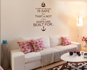 A Ship Quotes Wall Decal Motivational Vinyl Art Stickers