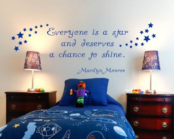 Everyone is a Star Quotes Wall Decal Lettering Vinyl Art Stickers