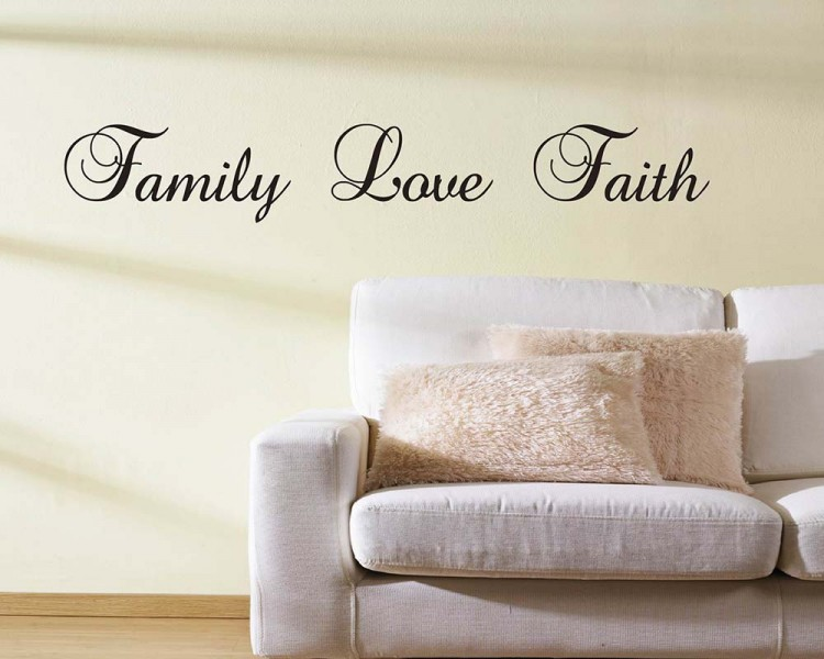 Family Love Faith Quotes Wall Decal Lettering Vinyl Art Stickers