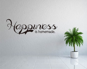 Happiness is Homemade Quotes Wall Decal Family Lettering Vinyl Art Stickers