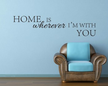 Home is Quotes Wall Decal Motivational Vinyl Art Stickers